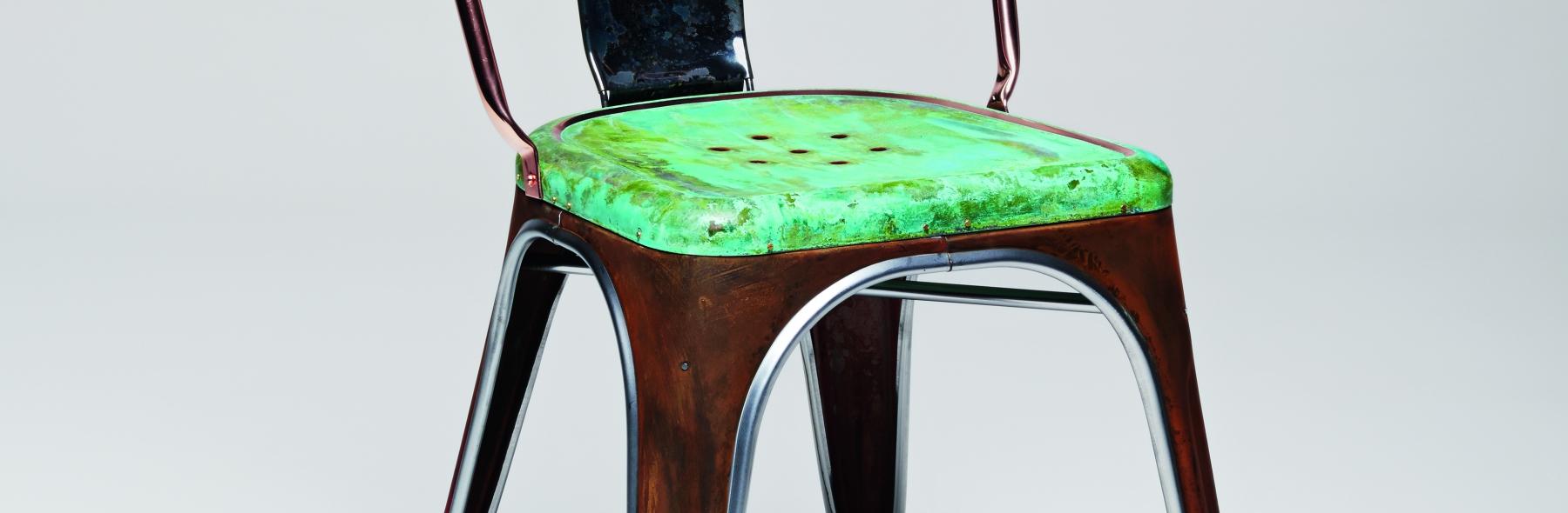 detalle silla vintage tolix mallorca