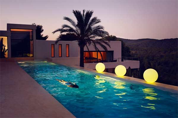 lamparas redondas piscina bubbles vondom mallorca