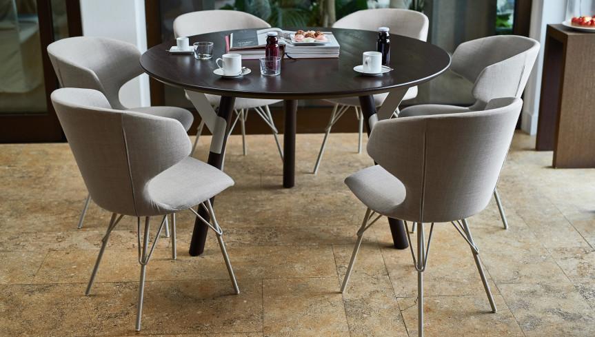 mesa madera redonda varaschin mallorca