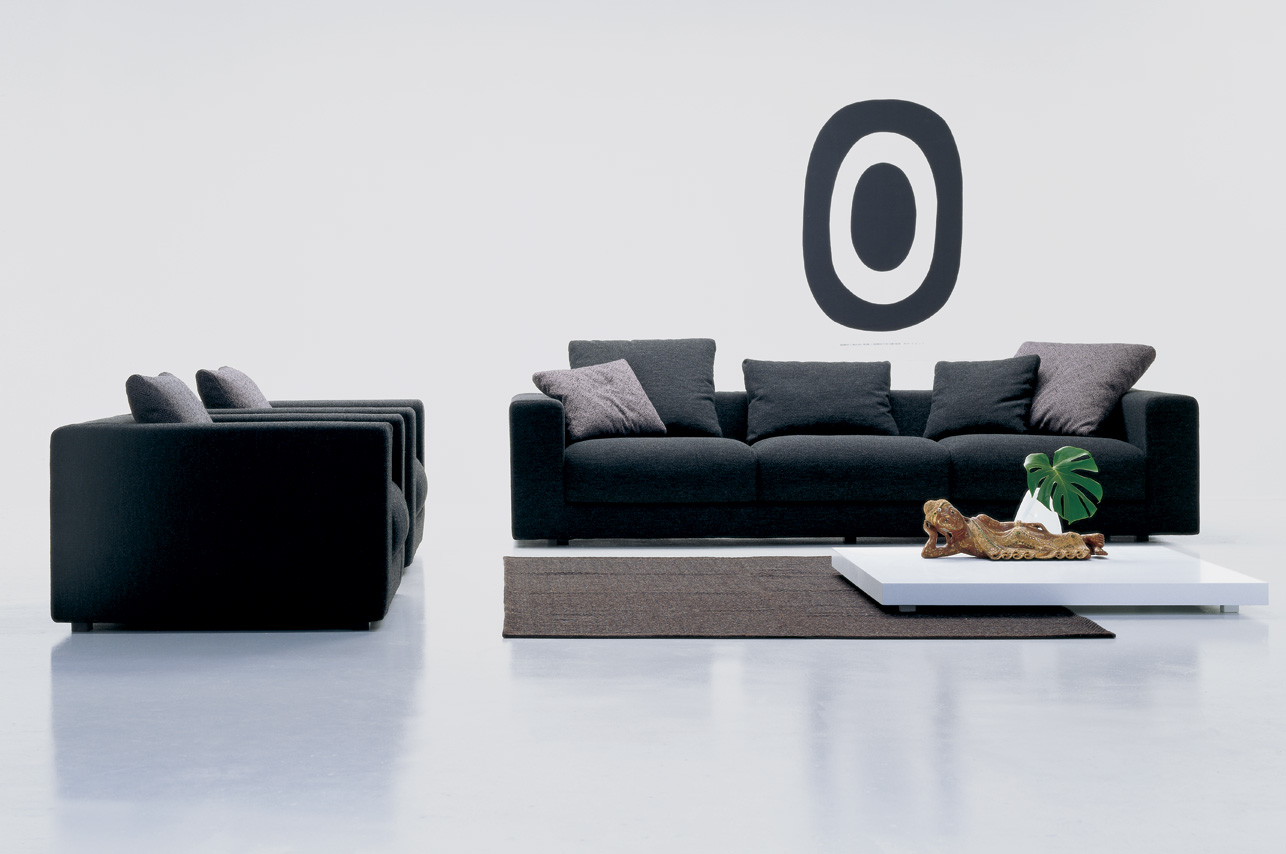 Salon con sofa negro saln de estilo nrdico en tonos - Salones con sofa negro ...