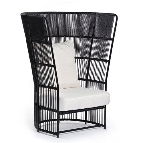silla respaldo alto negra varaschin mallorca
