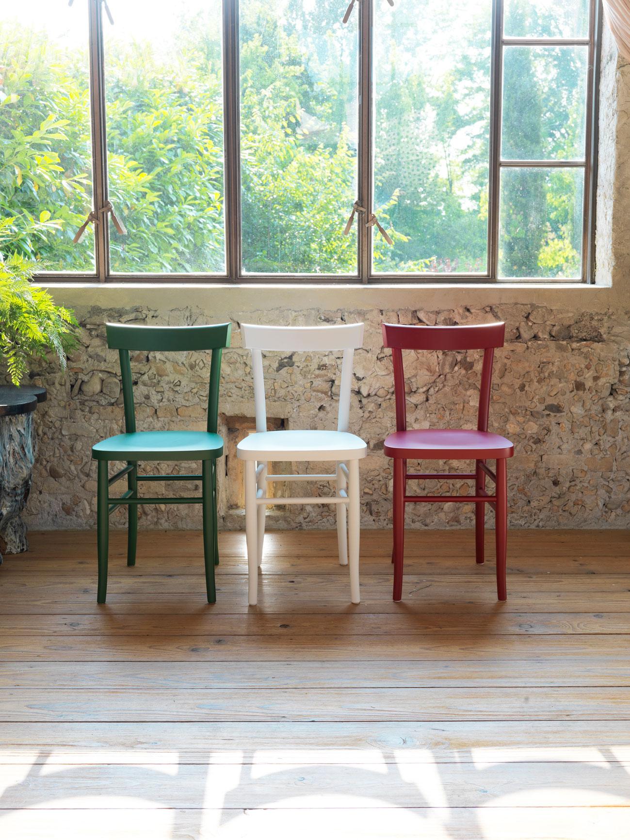 sillas rústicas colores horm mallorca
